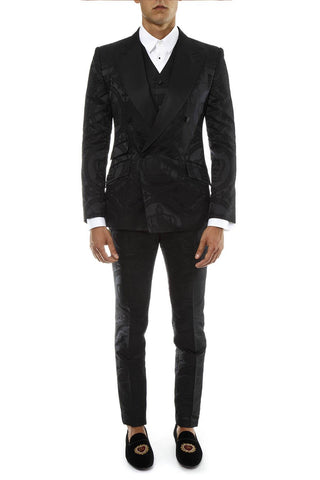 Dolce & Gabbana Jacquard Double Breasted Suit
