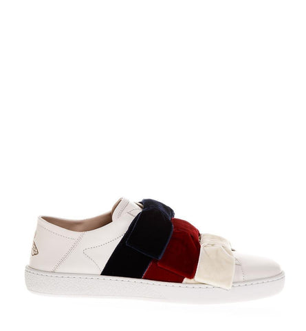 Gucci Velvet Bow Ace Sneakers