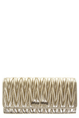 Miu Miu Quilted Continental Wallet