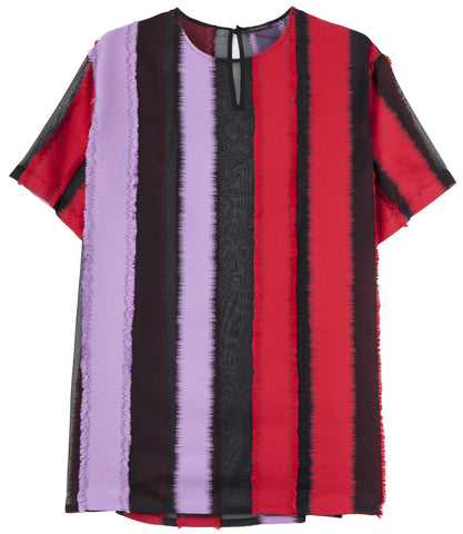 Versace Striped Panel Two-Tone T-Shirt