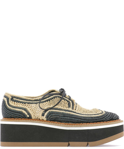 Robert Clergerie Woven Platform Lace-up Shoes