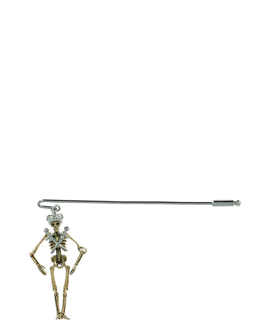 Alexander McQueen King Skeleton Pin Brooch