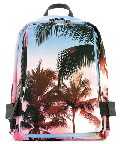 Balmain Printed Zipped Backpack