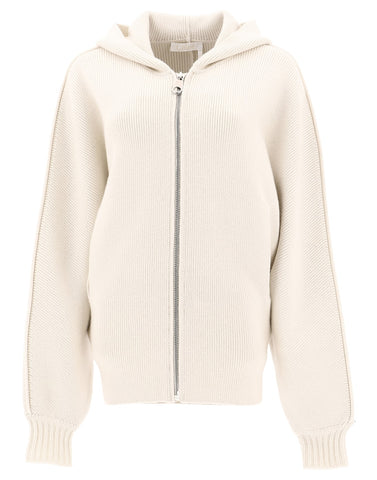 Chloé Zipped Hooded Sweatshirt