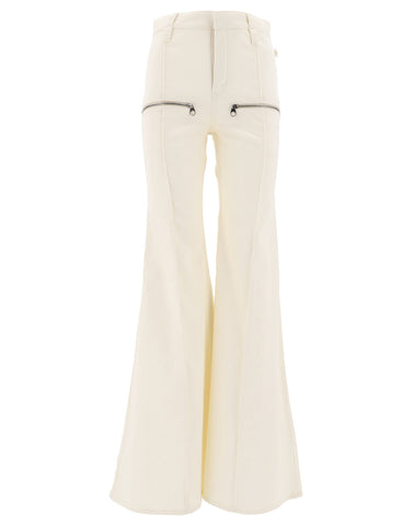 Chloé Zip Detail Flare Pants