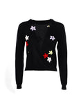 Simone Rocha Floral Embroidered Sweater