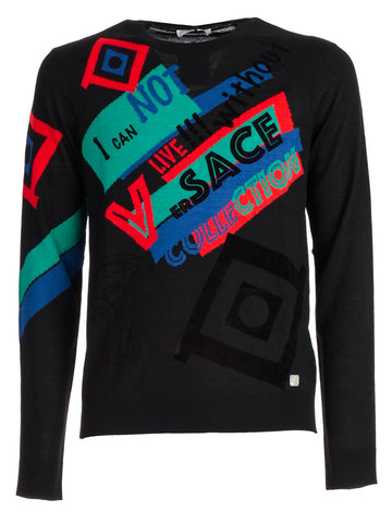 Versace Collection Graphic Design Logo Sweater