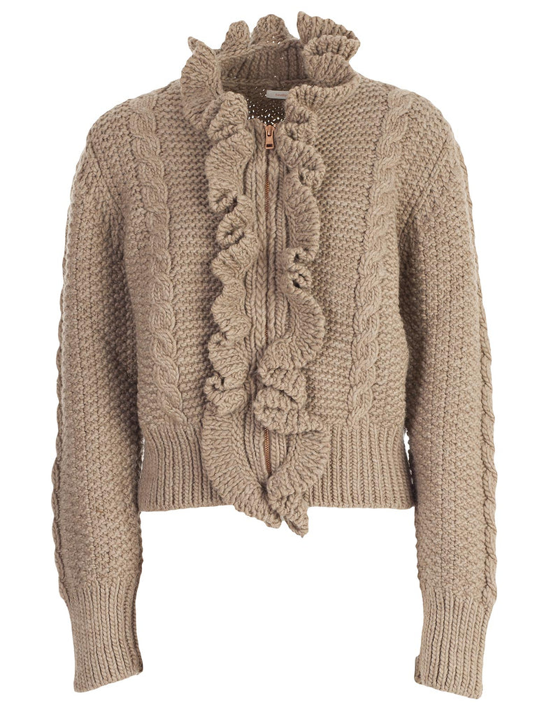 128ec126 See By Chloé Ruffled Knit Sweater