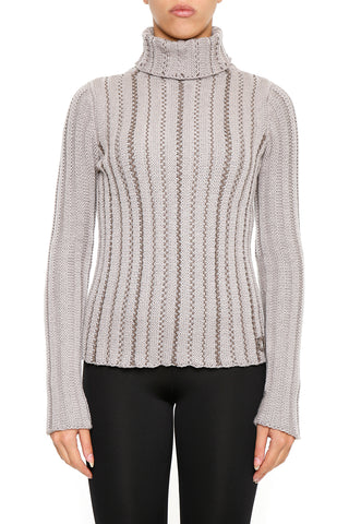 Salvatore Ferragamo Turtleneck Ribbed Sweater