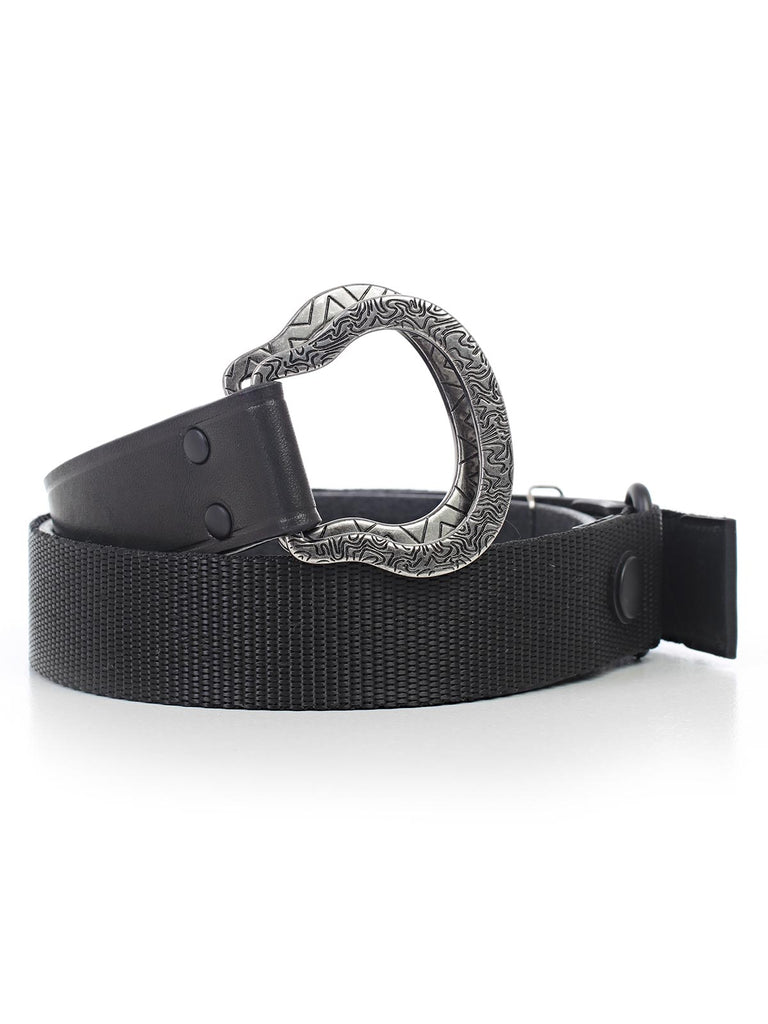 a162bf9912 Lanvin Engraved Double Buckle Belt