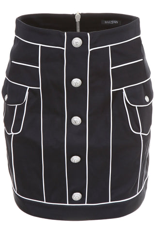 Balmain Piping Mini Skirt