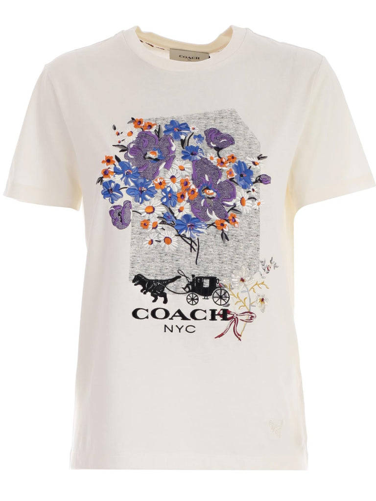 Coach Flower Print T-Shirt