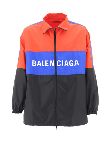 Balenciaga Zip Up Logo Jacket