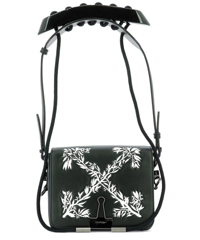 Off-White Leaves Binder Clip Shoulder Bag