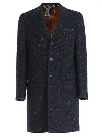 Etro Single-Breasted Long Coat