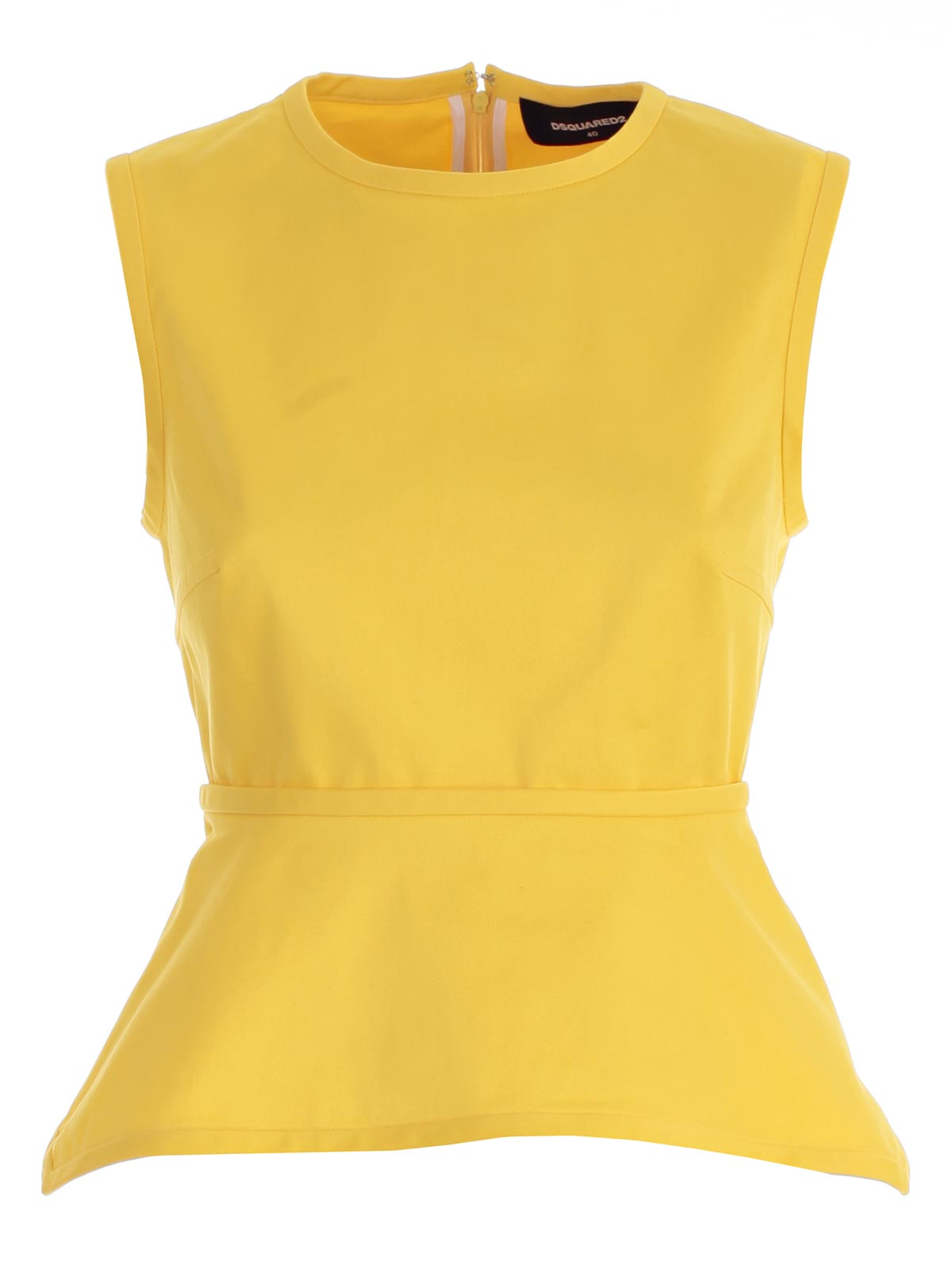 DSQUARED2 BELTED SLEEVELESS BLOUSE