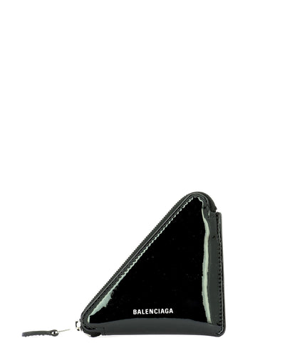 Balenciaga Patent Triangle Coin Purse