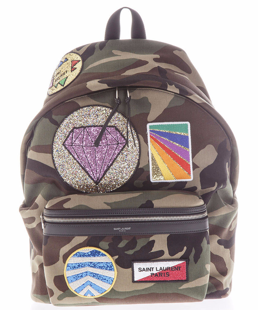 Saint Laurent City Multi-Patch Camouflage Backpack – Cettire cb0e43a8bf