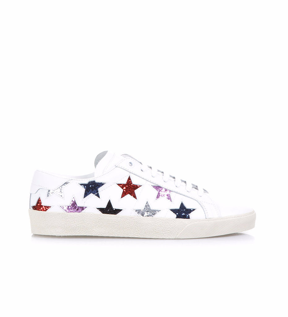 17f66a1ad59 Saint Laurent Glitter Star Leather Sneakers – Cettire