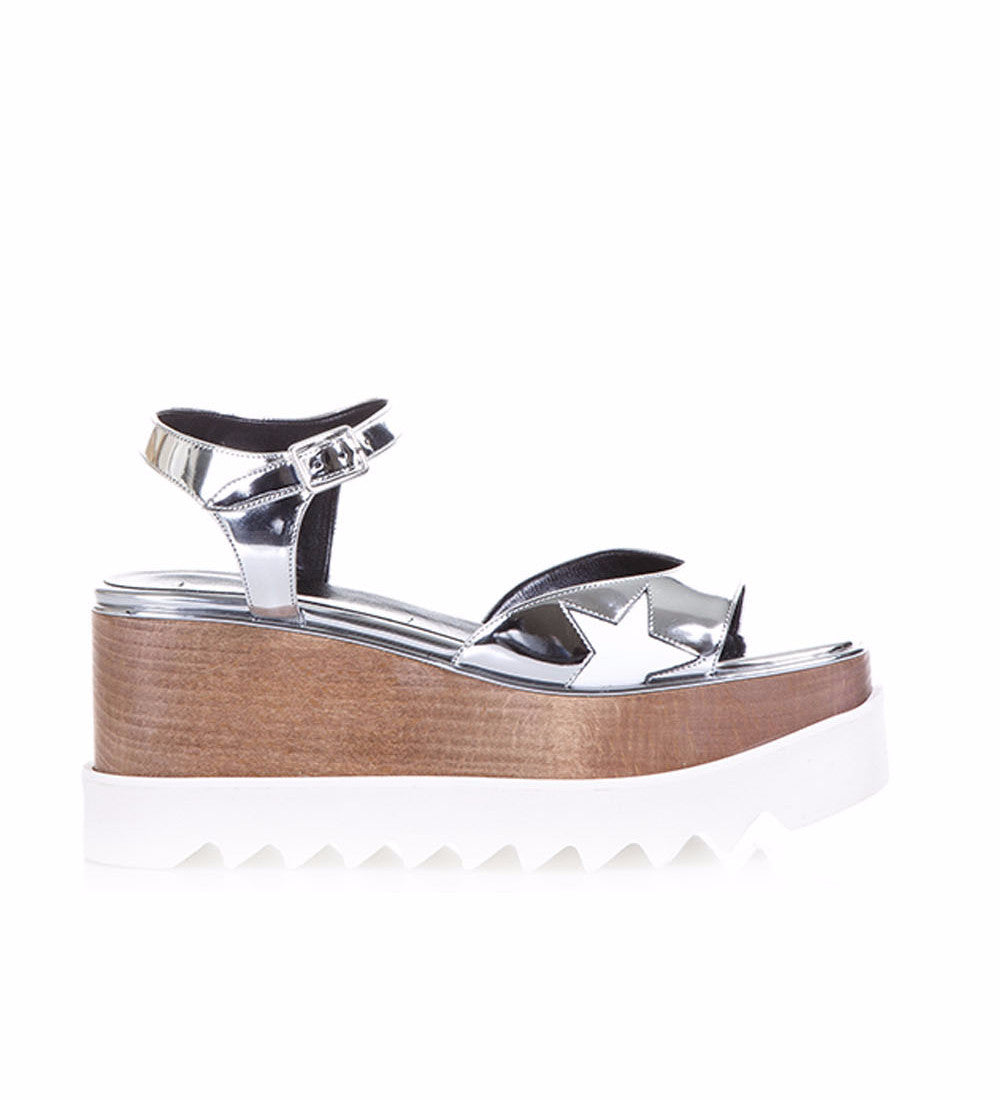 Stella Mccartney Elyse Sandals, Silver