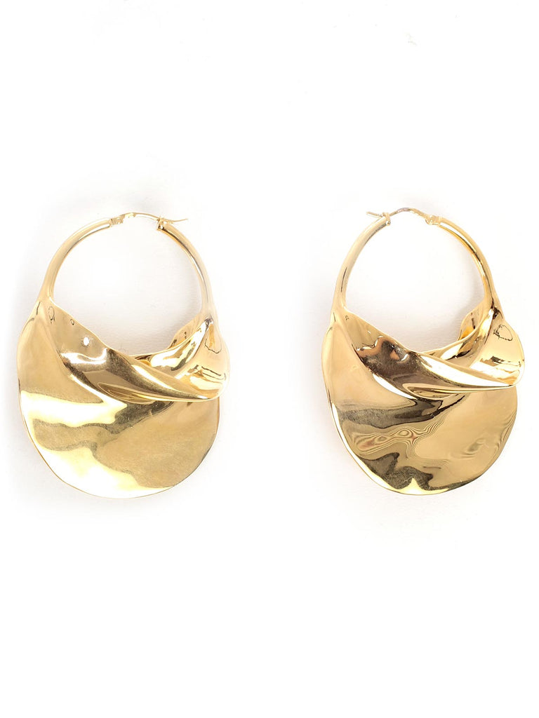 Céline Large Swirl Brass Earrings
