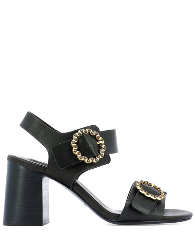 See By Chloé Embellished Buckle Heeled Sandals