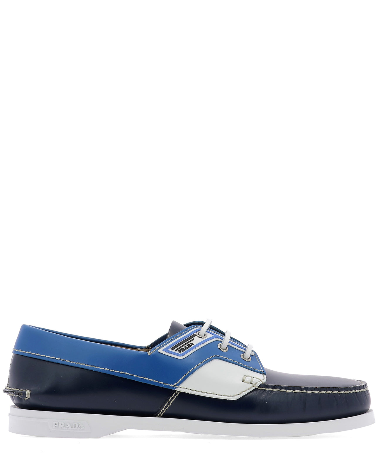 Prada Loafers PRADA LACE UP BOAT LOAFERS