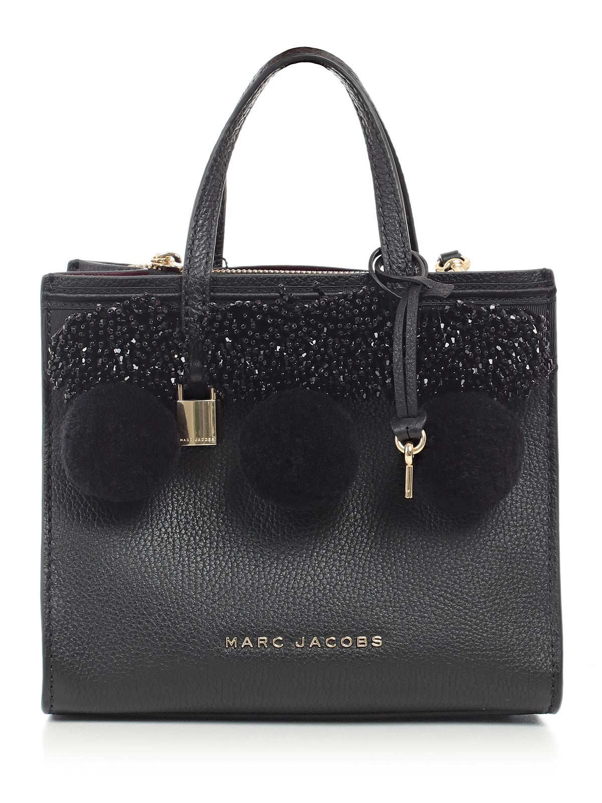 MARC JACOBS THE GRIND POM POM TOTE