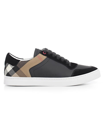 Burberry House Check Trim Leather Sneakers