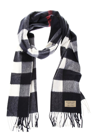 Burberry Large Check Cashmere Scarf