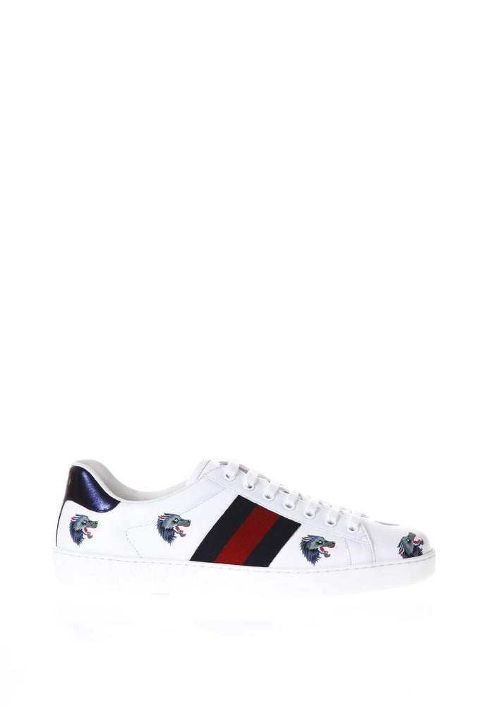 Ace with wolves print sneakers - Black Gucci lEhYfzb