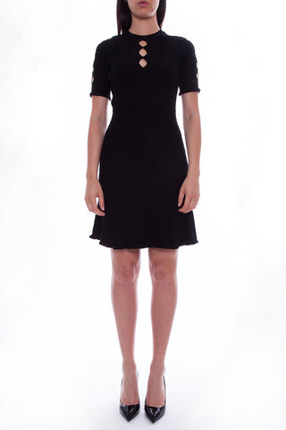 Kenzo Knitted Cut-Out Mini Dress