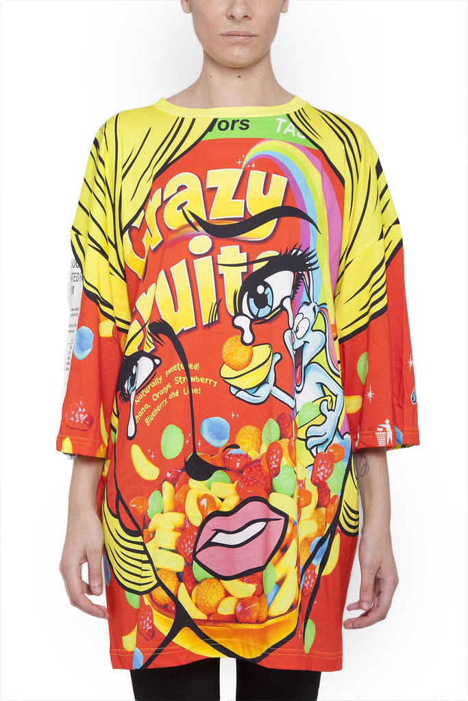 1ba2b68c26d7 Moschino Crazy Fruit T-Shirt Dress – Cettire