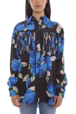 MSGM Floral Long Sleeve Shirt