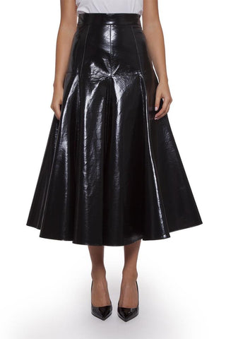 MSGM Flared Gloss Skirt