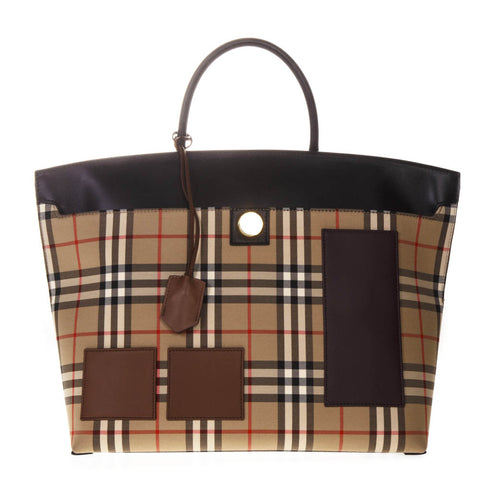 Burberry Checked Top Handle Bag