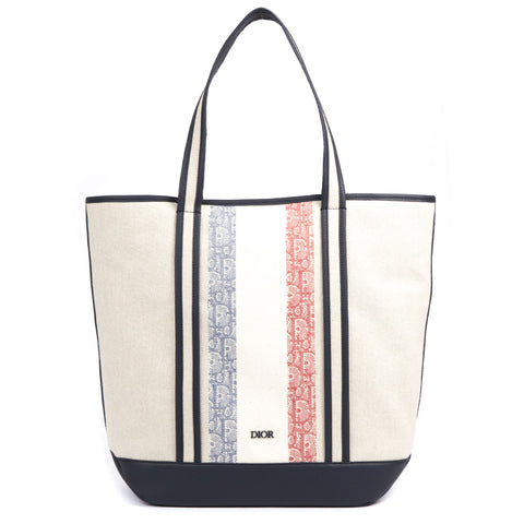 Dior Homme Canvas Logo Tote Bag