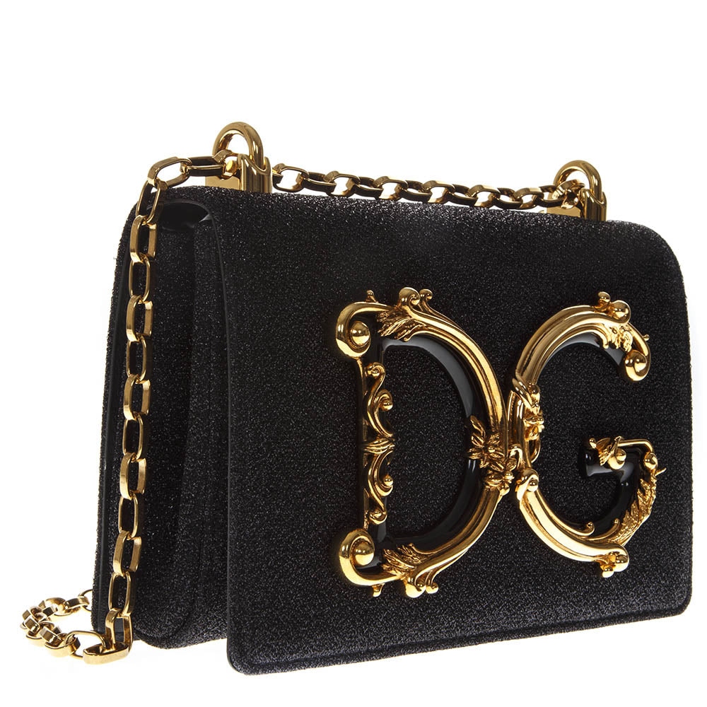Dolce   Gabbana Flower Logo Chain Crossbody Bag – Cettire e018223851b6c