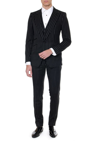 Dolce & Gabbana Pinstriped Three-Piece Suit