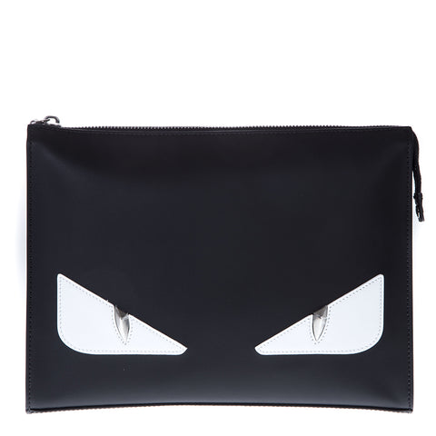 Fendi Bag Bugs Leather Clutch Bags