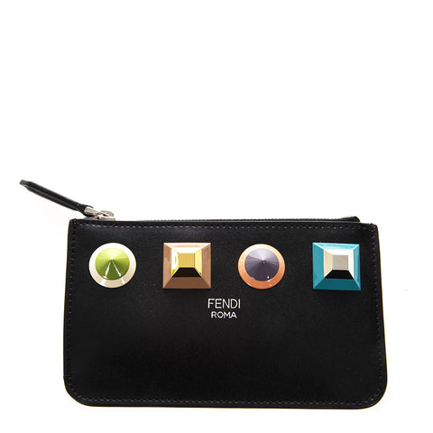 Fendi Jewell Embossed Zip Pouch