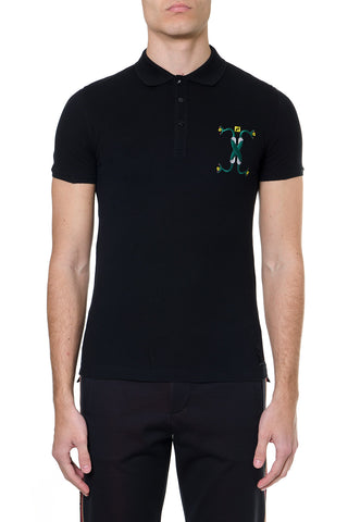 Fendi Snake Detail Polo Shirt