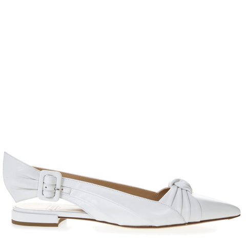 Francesco Russo Knotted Slingback Ballerina Shoes