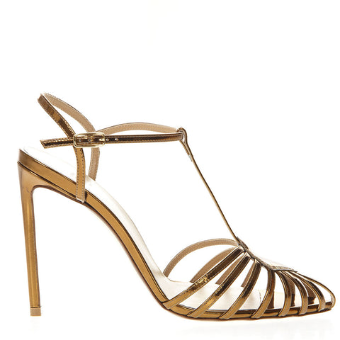Francesco Russo Mirrored Stilleto Sandals