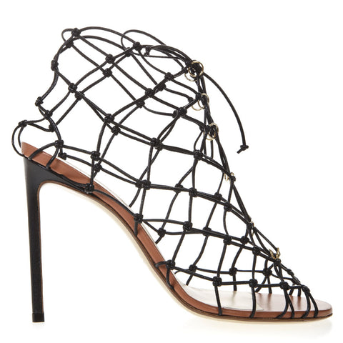 Francesco Russo Fishnet Stiletto Sandals