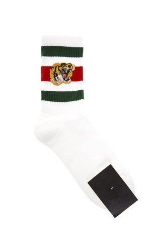Gucci Stretch Embroidered Tiger Socks