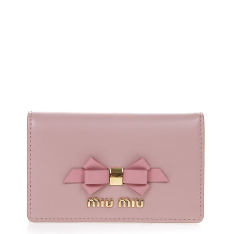 Miu Miu Bow Embellished Wallet