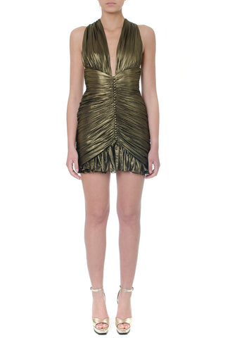 Saint Laurent Gathered Mini Dress
