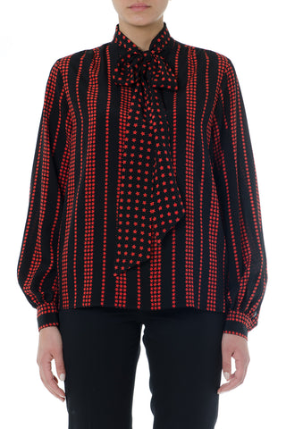 Saint Laurent Stars and Stripes Patterned Blouse