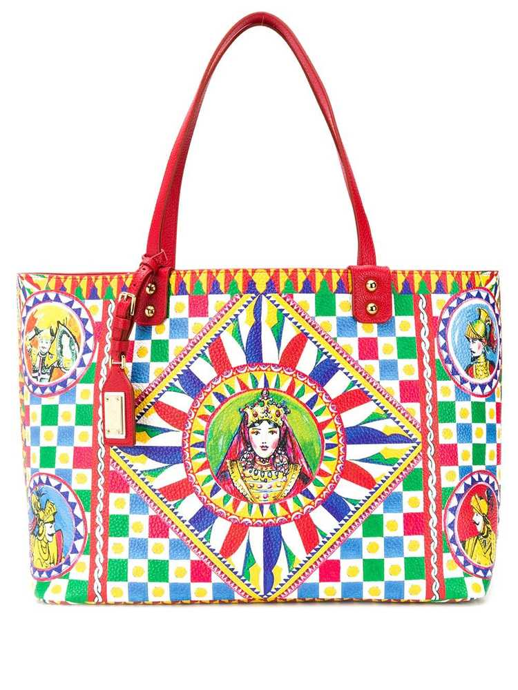 Dolce & Gabbana  DOLCE & GABBANA SICILIAN CARRETTO BEATRICE SHOPPER BAG